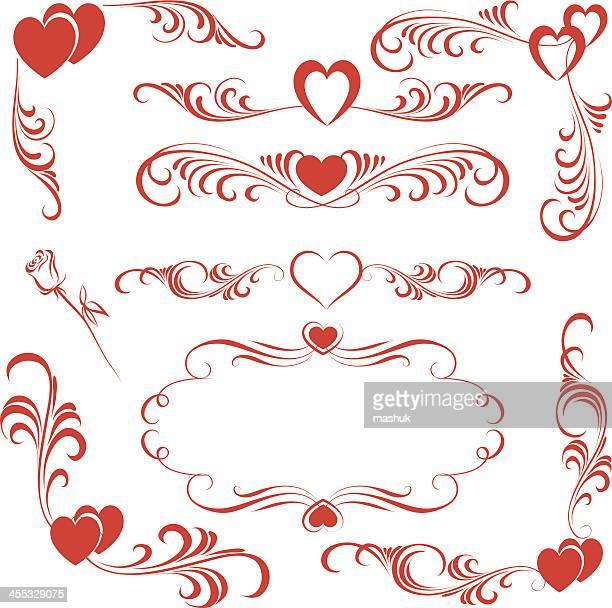 valentine ornament - animal heart stock illustrations, clip art, cartoons, & icons