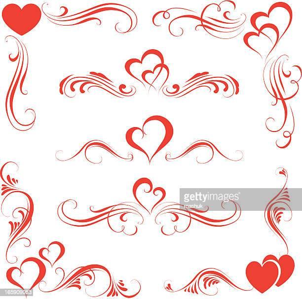 valentine ornaments - animal heart stock illustrations, clip art, cartoons, & icons
