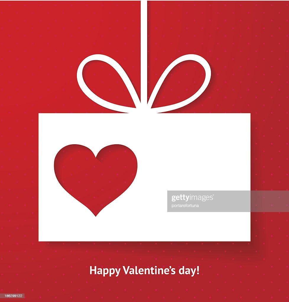 Valentine's applique card or background.