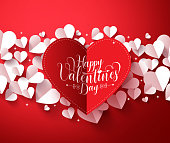 Valentines Background concept with happy valentines day greetings card