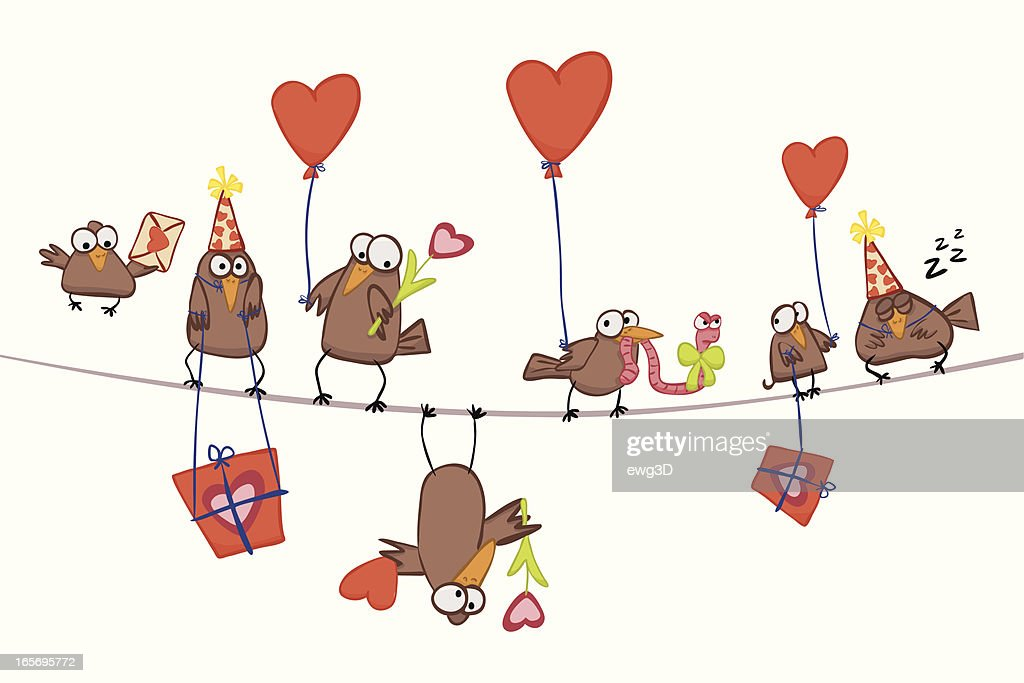 Valentine's Birds : stock illustration