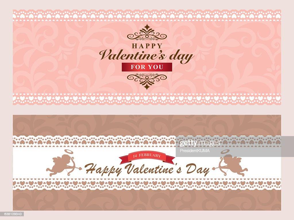 Valentine's card set