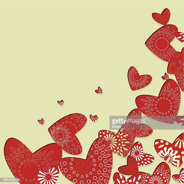 バレンタインのコーナー - 結婚記念日のカード点のイラスト素材/クリップアート素材/マンガ素材/アイコン素材