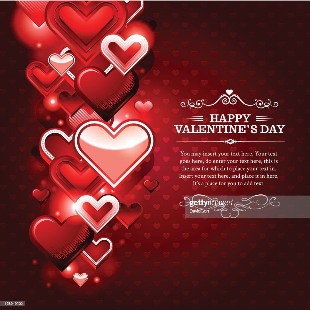 Valentines Day Background 1 stock vector | Getty Images