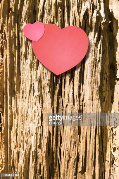 valentine's day background [heart on decayed wood] - rot stock illustrations