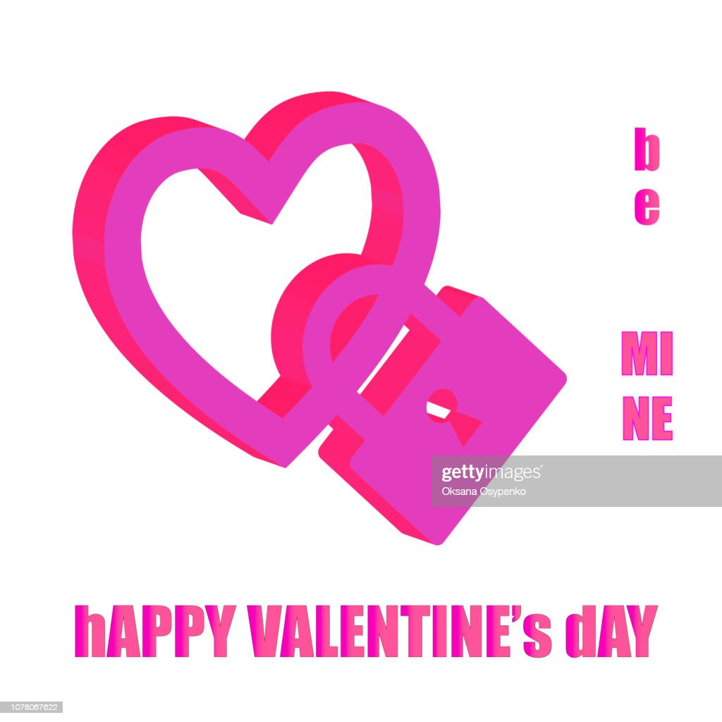 Valentines Day background - heart with lock