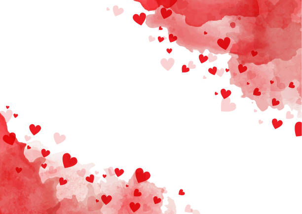 valentine's day background - heart shape stock illustrations