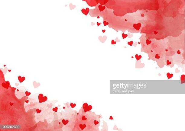 valentine's day background - heart shape stock illustrations
