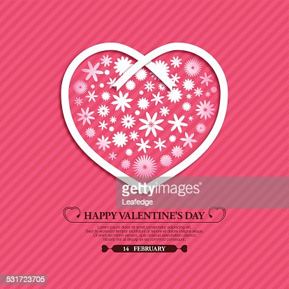 Valentines Day Backgroundflowers And Ribbon Vector Art | Getty Images