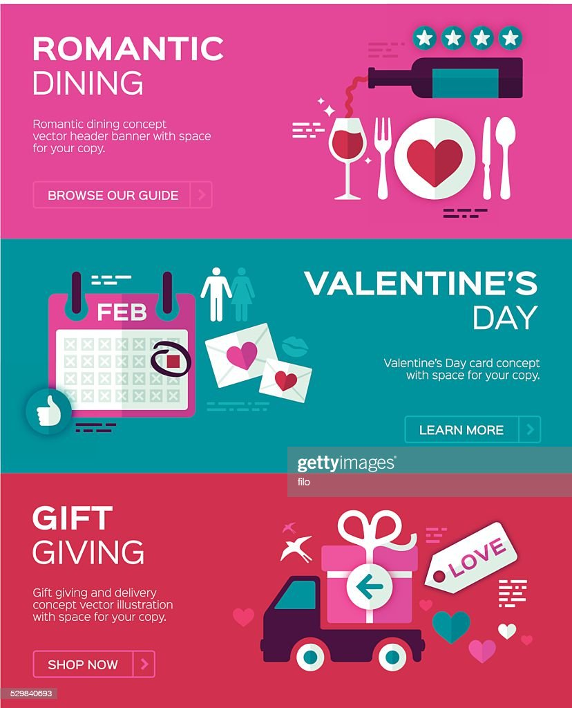 Valentine's Day Banners : Vector Art