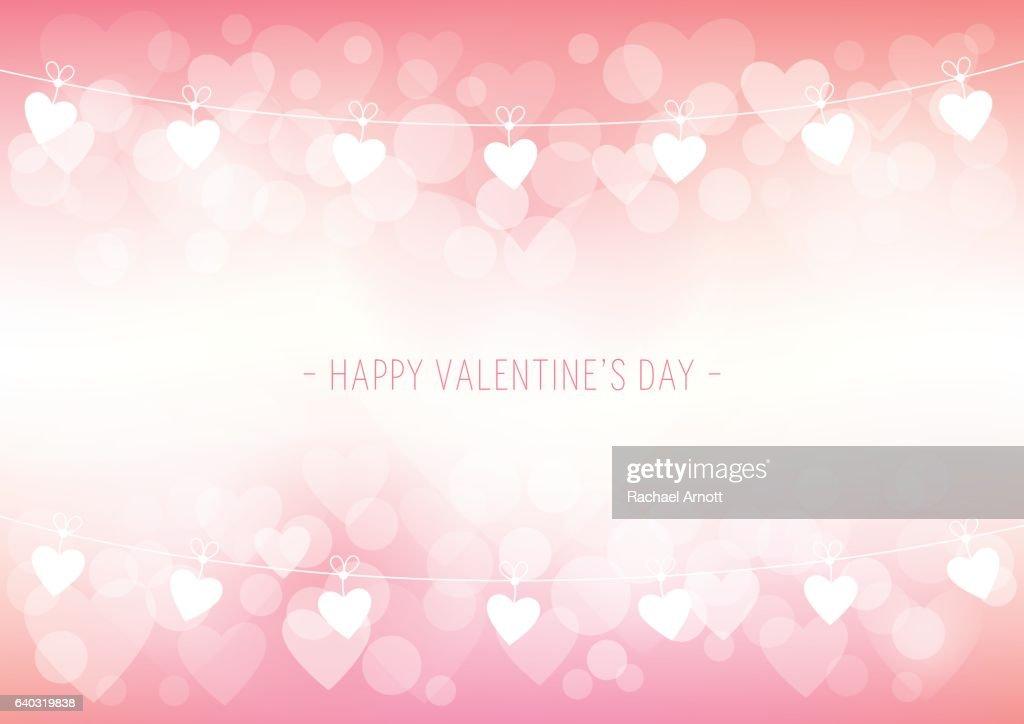 Valentine's Day Bokeh Background