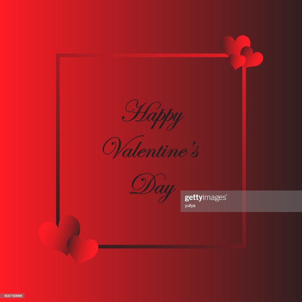 Valentinstag Karte Herz Mit Roten Hintergrund Mit Text Banner : Vektorgrafik
