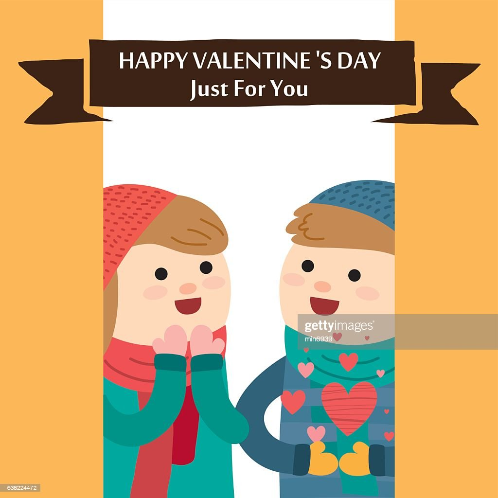 Valentines Day Card Romantic Vector Illustration Vector Art Getty