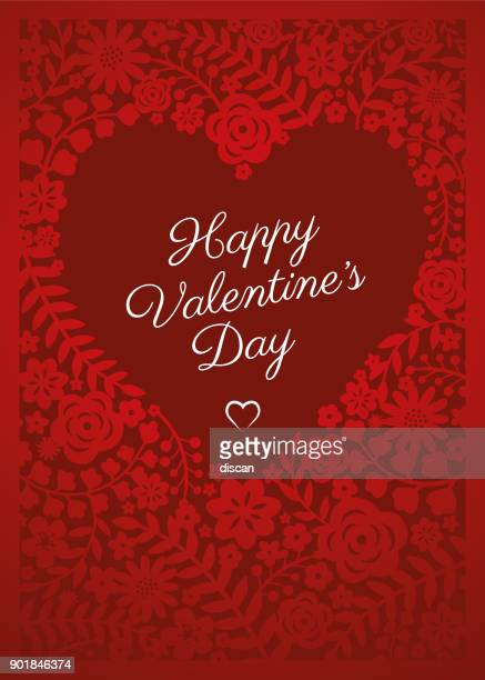 valentine's day card - gift tag note stock illustrations, clip art, cartoons, & icons