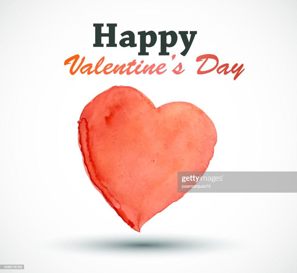 Carte de la Saint-Valentin avec coeur. : Clipart vectoriel