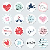 Valentines Day Circles Design Set