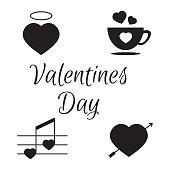 Valentines Day decor design vector elements. Valentine day vecto