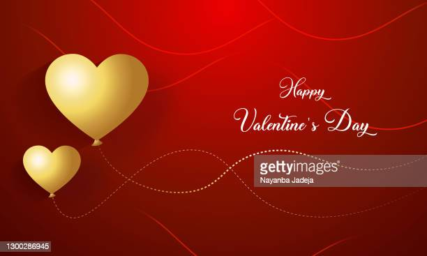 valentine's day decorated with 3d hearts. stock illustration - heading the ball stock illustrations