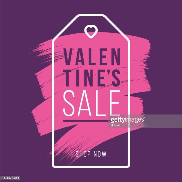 Valentinstag-Design für Werbung, Banner, Broschüren und Flyer.