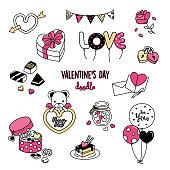 Valentine's Day doodles.