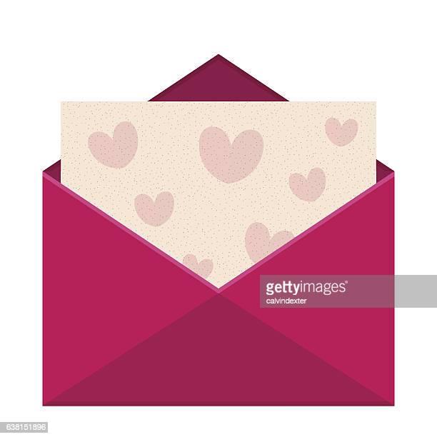 """ilustraciones, imágenes clip art, dibujos animados e iconos de stock de paquete """"valentines day"""" (día de la envoltura. - carta de amor"""