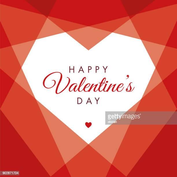 Día de San Valentín corazón geométricos