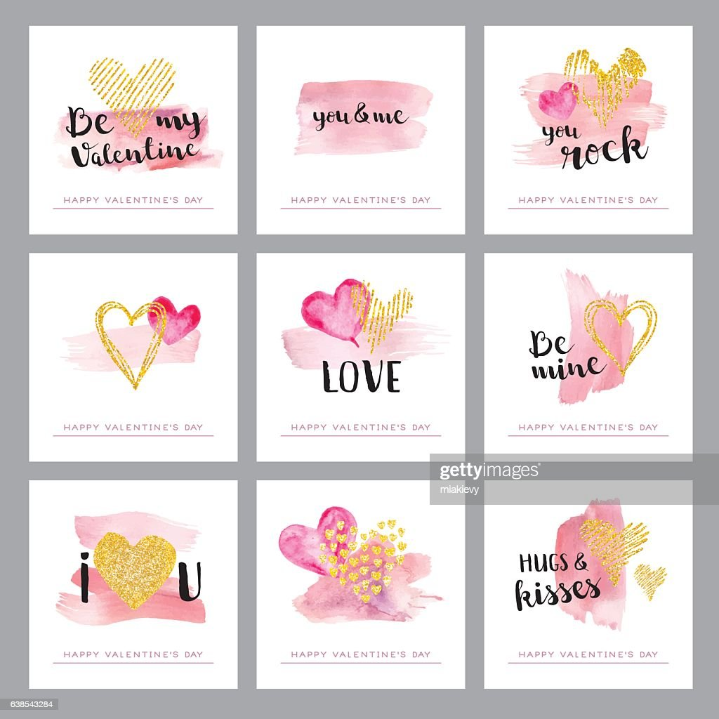 Valentines day golden hearts : stock illustration