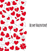 Valentine's day greeting card. Doodle style