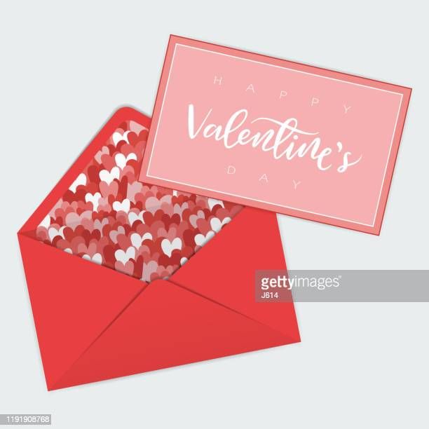 valentine's day greeting card - love letter stock illustrations