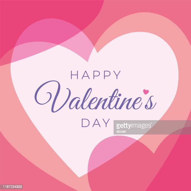 valentine's day greeting card with hearts. - valentine's day holiday stock illustrations