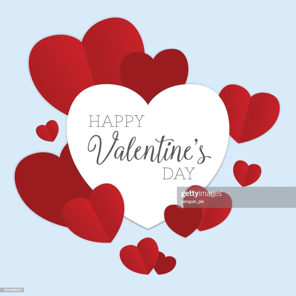 Valentine's Day greeting vector illustration