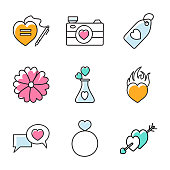 Valentines Day Hand Drawn Icons Pack