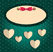 Valentines day heart background, vector illustration