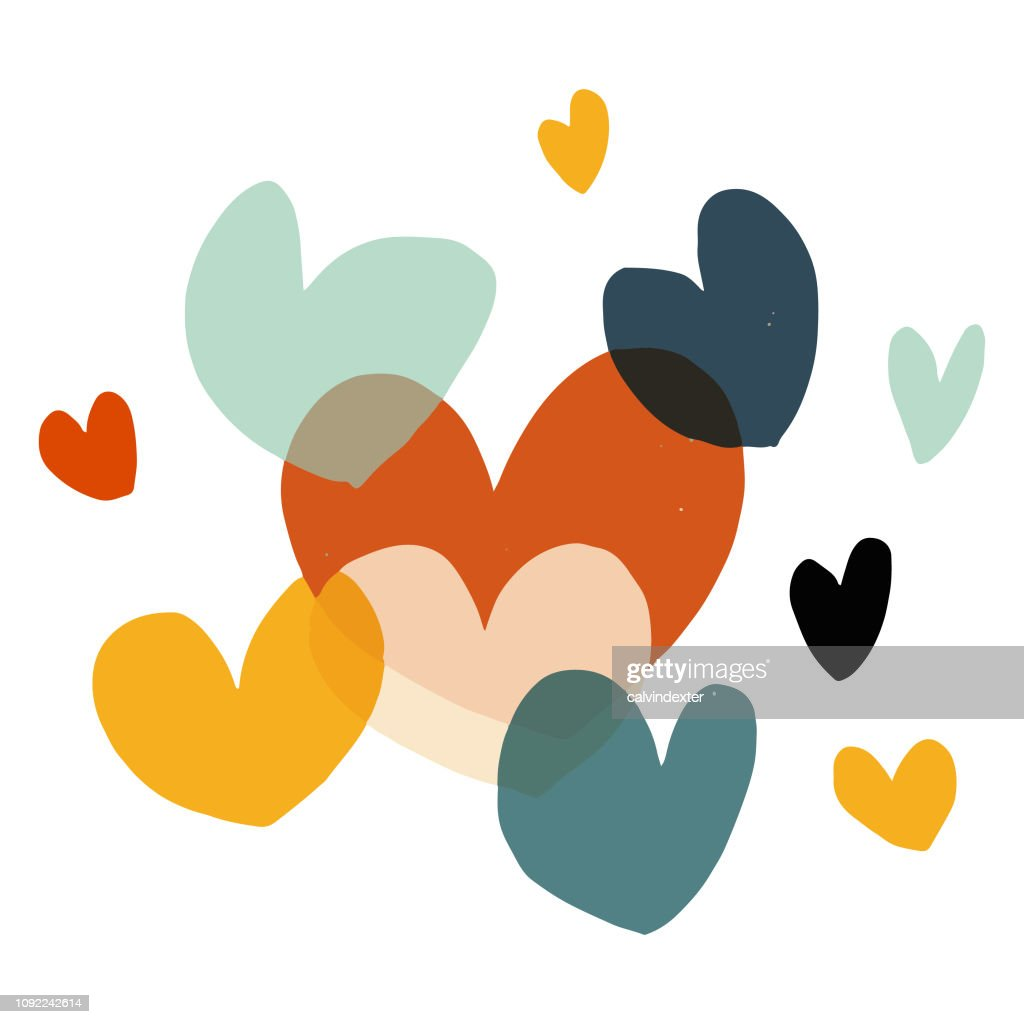 Valentinstag Herzen Formen : Stock-Illustration