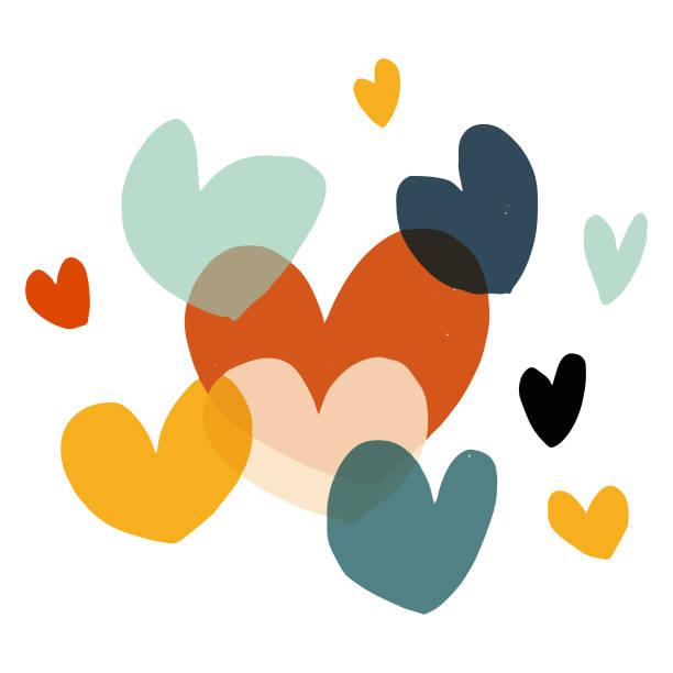 valentine's day heart shapes - heart shape stock illustrations