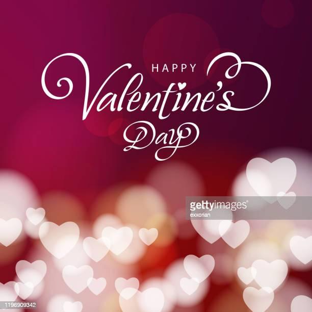 valentine's day hearts background - valentine card stock illustrations