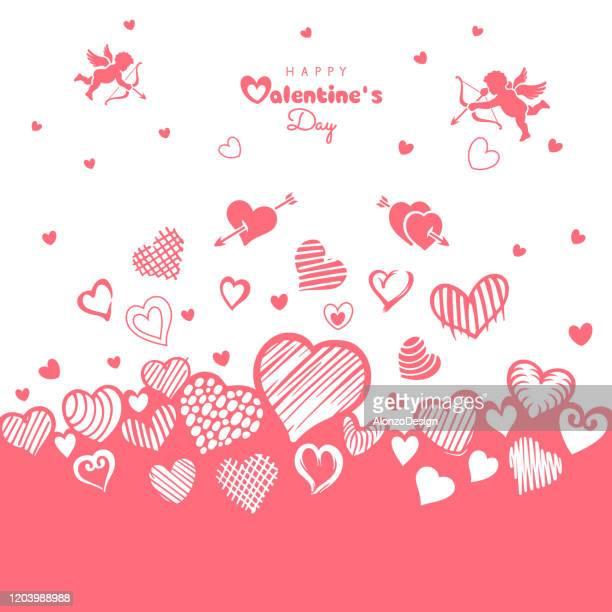 ilustraciones, imágenes clip art, dibujos animados e iconos de stock de fondo de corazones del día de san valentín - i love you