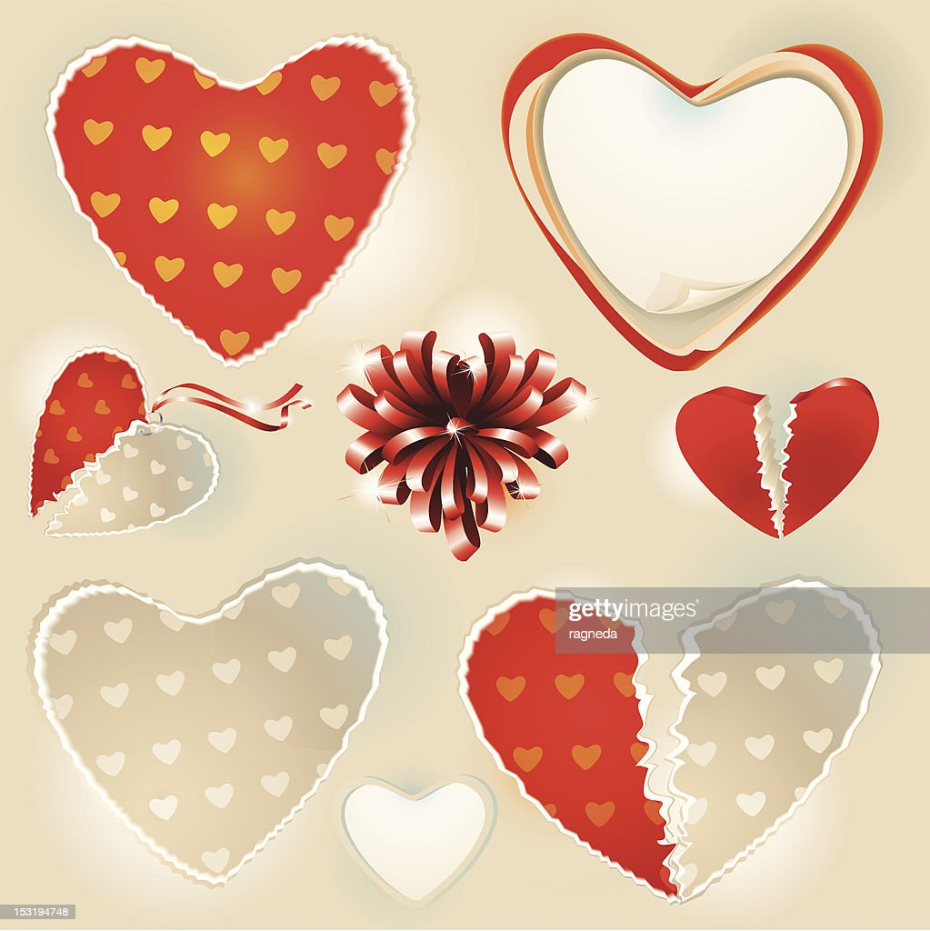Valentine's Day  hearts collection.