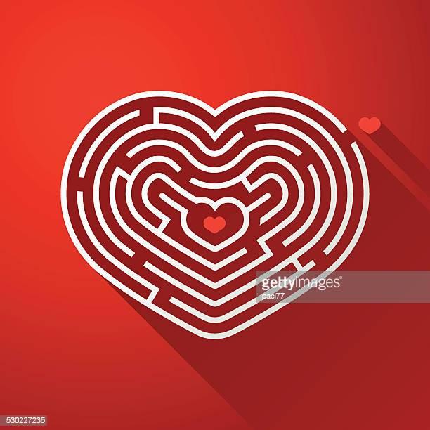 illustrazioni stock, clip art, cartoni animati e icone di tendenza di icona di san valentino - intrico
