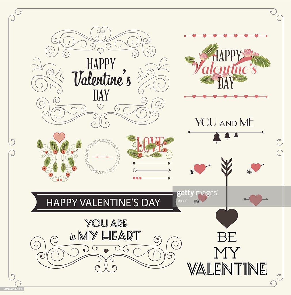 Valentine's Day Labels - Illustration