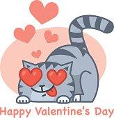 Valentine's Day love cat