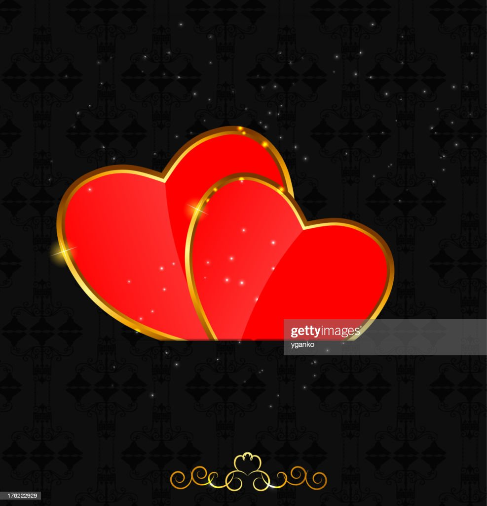 Valentines day love  heart background, vector illustration