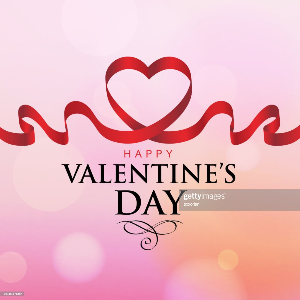 valentines day love ribbon vector art