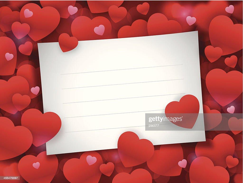 Valentine's Day Note Card : stock illustration