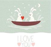 Valentine's day or wedding card