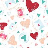 Valentine's day or wedding seamless pattern.