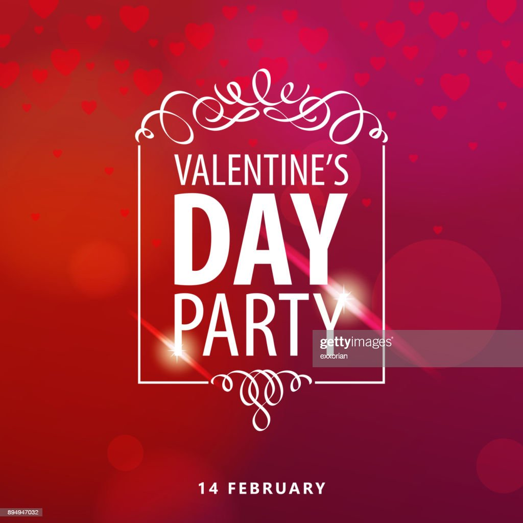 Valentine's Day Party : Vector Art