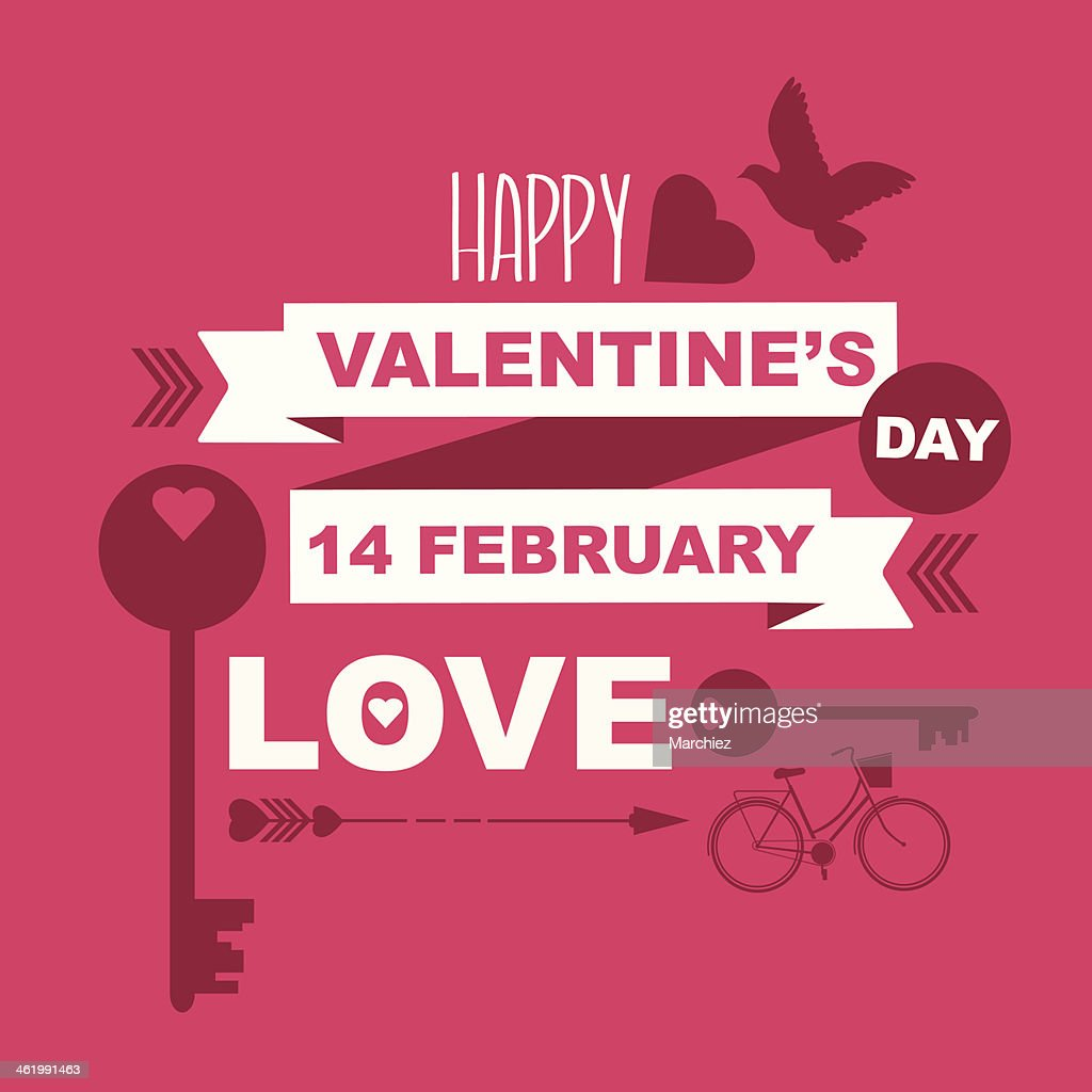 Valentines Day Poster Vector Art Getty Images