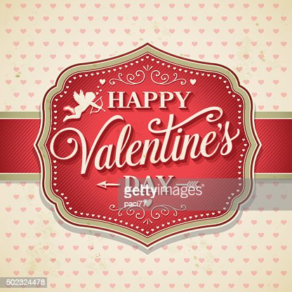 valentines day retro frame with cupid vector art | getty images, Ideas