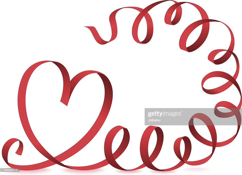 Valentines Day Ribbon Heart Vector Art Getty Images